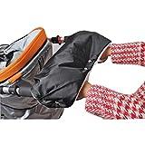 Solike Imperméable épais Gant chauffant à la main Accessoires pour Chariot Poussette Bébé Poussette Mitaines à main (Noir, 21.22''x10.22'' / 54x26cm)