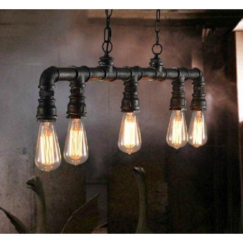 Ouku Vintage Metal Water Pipe 5-light Pendant Light Pendelleuchten - Ministil - Vintage/Laterne/Rustikal/Traditionell-Klassisch/Retro (Ausgefallene Lampen)