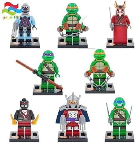 mini figures star wars marvel avengers toy man keyrings dc super fits with lego Ninja turtle - 8 mini figures