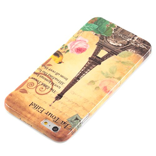 deinphone Apple iPhone 6 Plus (5.5) Coque bumper Case Tour Eiffel/fleur rose