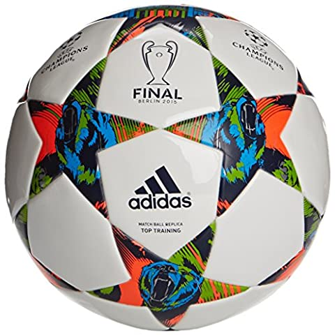 adidas Fußball Finale Berlin Top Training, White/Solar Blue2 S14/Flash Green S15, 5, M36923