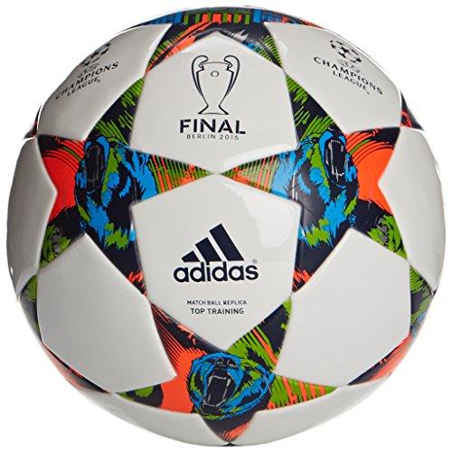 adidas Fussball Finale Berlin Top Training, White/Solar Blue2 S14/Flash Green S15, 5, M36923 hier kaufen