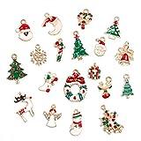 Yalulu 19 Stück Weihnachten Metall Anhänger Charme Dekoration Hängend Weihnachtsbaumschmuck Deko Weihnachtsdeko (A)