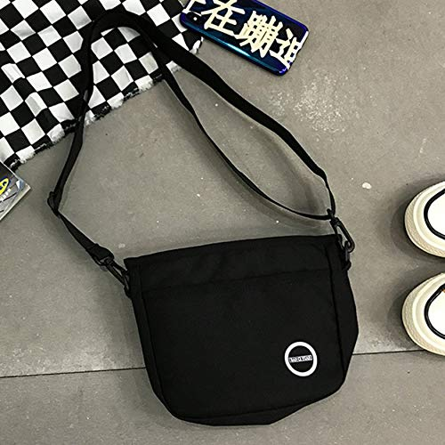 Yaoaoden Mode Durable Frauen Student Nylon Einzelner Schulterbeutel Einkaufstasche Check Plaid Weibliche Nylon Einkaufstaschen (Nylon-einkaufstasche Check)
