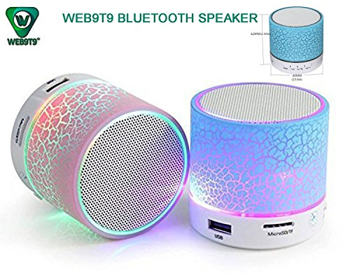 WEB9T9 Latest Wireless LED Bluetooth Speaker Compatible Certified with Samsung, Motorola, Sony, Oneplus, HTC, Lenovo, Nokia, Asus, Lg, Coolpad, Xiaomi, Micromax and All Android Mobiles. Music Walk Wireless Led Lights Bluetooth Speaker Mp3 Player & Fm Radio Speaker Rechargeable Audio Outdoor Speaker & Car Audio Speaker MIc For Call Answering & Calling. USB Port, MIcrosd Card Slot (Assorted Colour)  available at amazon for Rs.249