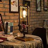 Lampada da Tavolo A Soppalco retrò, Lampada da Tavolo A LED Decorativa da Notte, Lampada da Tavolo A Lampadina Edison con 1 Luce, Lampada Industriale per Ristorante, Bar, caffè, Negozio