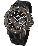TW Steel Herren-Armbanduhr Chronograph Silikon Schwarz TS4