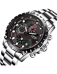 LIGE Relojes Hombres Acero Inoxidable Impermeable 30M Deportes Reloj De Cuarzo Analógico Moda Fecha Negocios Reloj