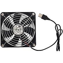 ELUTENG Ventola USB per PC da 120mm USB Ventole di Raffreddamento 5V 12cm USB Fan Silenziosa Cooling Portatile Cabinet Router PC PS4 PS3 Xbox Router Water