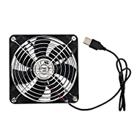 ELUTENG USB Case Fan 120mm Silent Computer Fans USB Powered 5V PC Cooling Fan Portable Quiet 12cm Ventilator Radiator for PC Router AV Cabinet Fish Water Tank Cooler