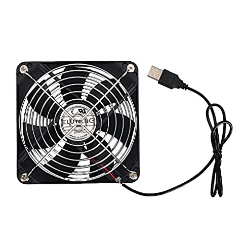 ELUTENG USB Case Fan 120mm Silent Computer Fans USB Powered 5V PC Cooling Fan Portable Quiet 12cm Ventilator Radiator for PC Router AV Cabinet Fish Water Tank
