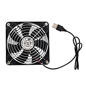 ELUTENG Ventola USB per PC da 120mm USB Ventole di Raffreddamento 5V 12cm USB Fan Silenziosa Cooling Portatile Cabinet Router PC PS4 PS3 Xbox Router Water