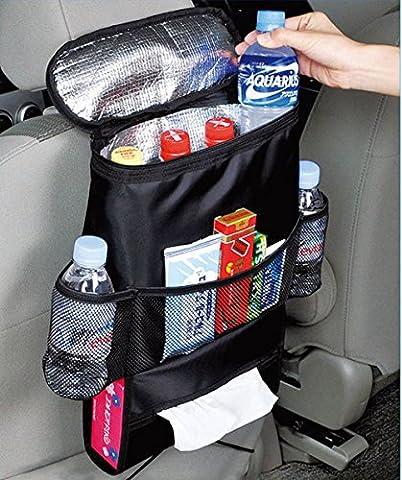 Organisateur de siège arrière de voiture Sac de paquet de glace Sac de stockage de voyage à isolation thermique froide