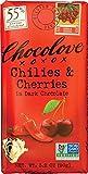 Chilies & Cherries in Dark Chocolate, 3.2 Ounce (Pack of 12) : Chocolove Chocolate Bar, Chilies & Cherries in Dark Chocolate, 3.2 Ounce (Pack of 12)