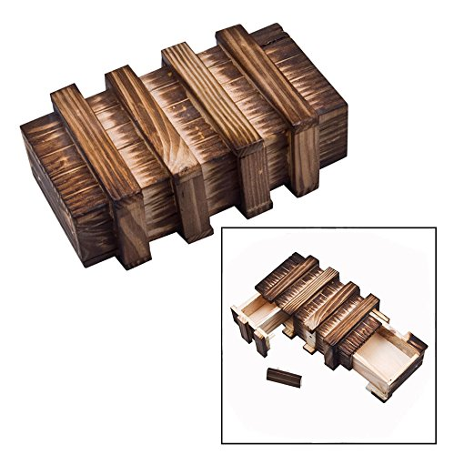 OFKPO Holz Magic Box,Kreative Geschenkbox Denkspiel/Knobelspiel/Geduldspiel
