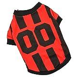 Hawkimin Haustier Hund Sporttrikot Mode Fußball Weste Kleidung für Hunde Kostüm Sport Kleidung Sweatshirt Sportswear Jersey Hündchen Kleider