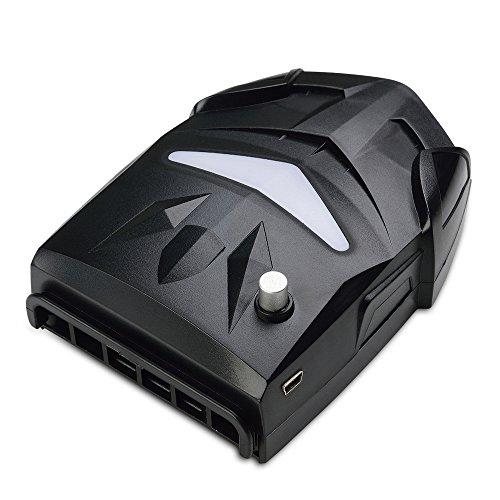 Alxcio Portabel Laptop Kühler Hochleistungslüfter Cooling Pad Luft Extrahierung Vakuum-lüfter Gaming Mate CPU Kühler mit USB, Einstellbare Windgeschwindigkeit, Leiser Betrieb, Ultra-portable Heizkörper, Wiederverwendbare, Energiespar für Notebook / Laptop, Schwarz