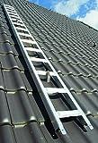 Premium Dachleiter Aluminium 2,43 m Dachdeckerauflegeleiter 9 Sprossen, gerade Sprosse, nach BGR 203