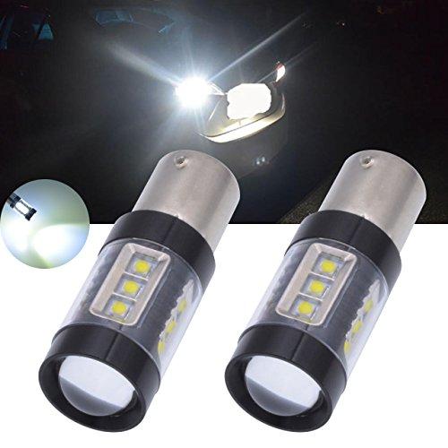 tuincyn weiß 1800Lumen CREE 16SMD LED Leuchtmittel 75061156BA15S 114110951073LED Bremslicht Blinker Leuchtmittel Rücklicht 12V-24V (2Stück)