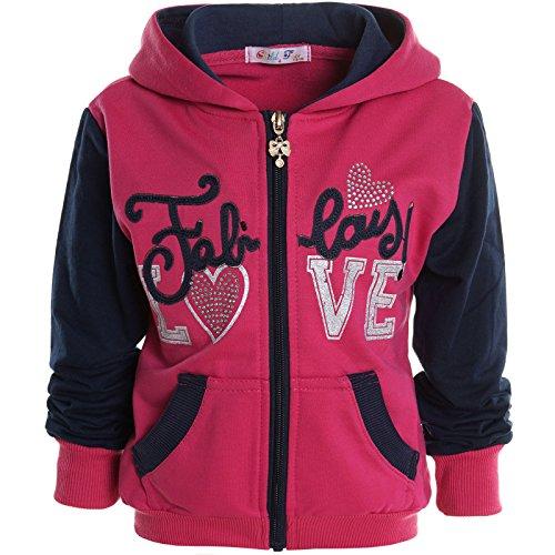 BEZLIT -  Felpa con cappuccio  - Camicia - Basic - Collo a U  - Maniche lunghe  - ragazza Rosa 12 anni