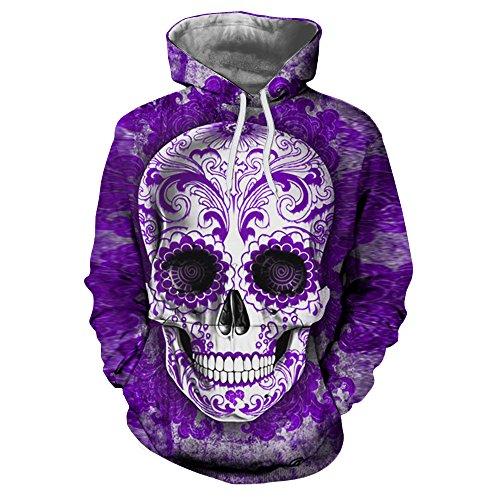 3D Männer Sweatshirts Tropfenschiff gedruckt Hoodie Marke Trainingsanzug unisex Pullover 6XL lässige Mode Männer Jacken, LMS 255,4 XL (Sugar Skull Für Männer)