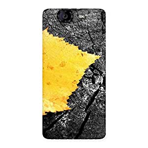Impressive Lonely Leaf Multicolor Back Case Cover for Canvas Knight A350