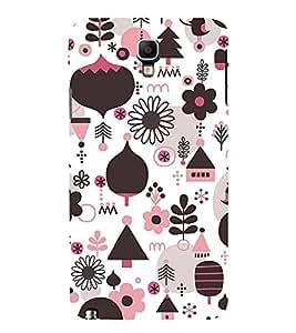 Floral Design Wallpaper 3D Hard Polycarbonate Designer Back Case Cover for Samsung Galaxy Note 3 Neo N7505