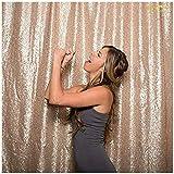 ShinyBeauty Halloween Party Foto BoothProp, Champagner Glitzernden Pailletten Hintergrund-125x215cm
