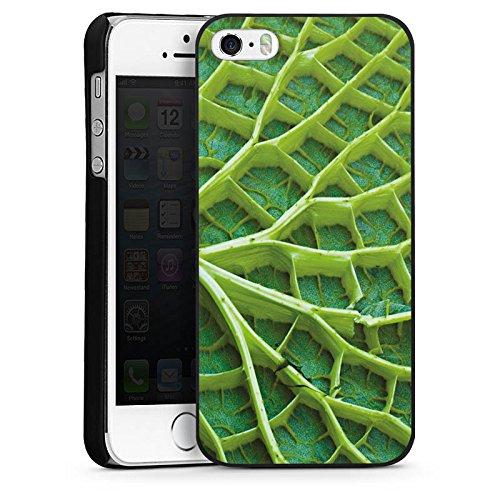 Apple iPhone 6 Housse Étui Silicone Coque Protection Feuille de nénuphar Plante Nature CasDur noir