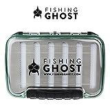 FISHINGGHOST wasserdichte Köderbox für Spoons, Spinner, Blinker und Fliegen - passt in jede Jacke...
