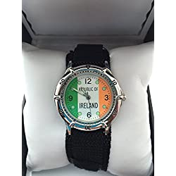 IRELAND Analogue Quartz Classic Velcro Strap Watch RRP49.99 70 % Discount !!!!