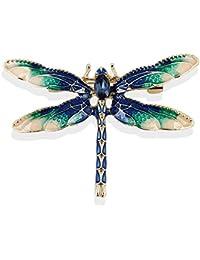 61c82a2b5c15 TOOGOO Broches de libelula para Mujer Broche de libelula Insecto del  Esmalte Verde Pin y broches