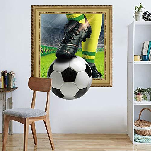 (Wandaufkleber Wandtattoo Wohnzimmer3D-Simulation Fußball-Wand-Aufkleber World Cup Fans Dekoration Zimmer Wohnzimmer Schlafzimmer Tv Sofa Hintergrund Wand Wandaufkleber, B)