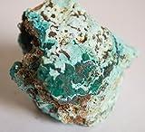 Superb campione Dioptase cristalli su Crisocolla Matrix 4x 3.5cms 32.96gms