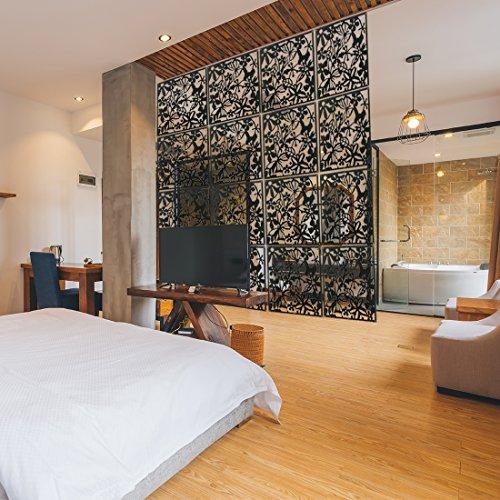 Wowye Raumteiler-Set, freistehend, PVC, Sichtschutz, für Zuhause, 12 Stück, Schwarz, 12 -
