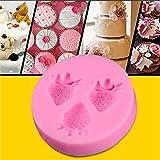preadvisor (TM) silicona DIY Jabón Fondant Azúcar Craft Molde Candy Chocolate Herramienta de Decoración de Pasteles