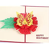 Handmade 3D Pop-up-Pop-Geburtstagskarte Papier Handwerk Handwerk Geburtstagskarte ihm Kind Kind Vater Mutter Freund Familie Großeltern