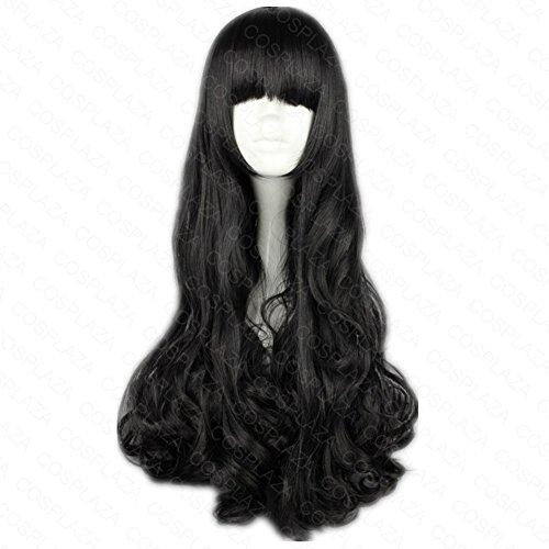 COSPLAZA Perücke Rwby Blake Belladonna Schwarz lang gewellt Anime Cosplay Wig Karneval Party Haar
