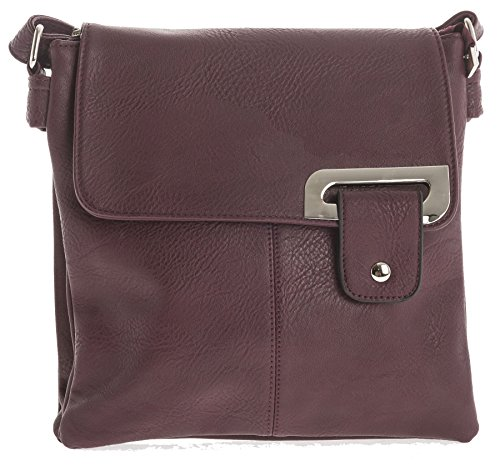 Big Handbag Shop - Borsa a tracolla donna Deep Maroon