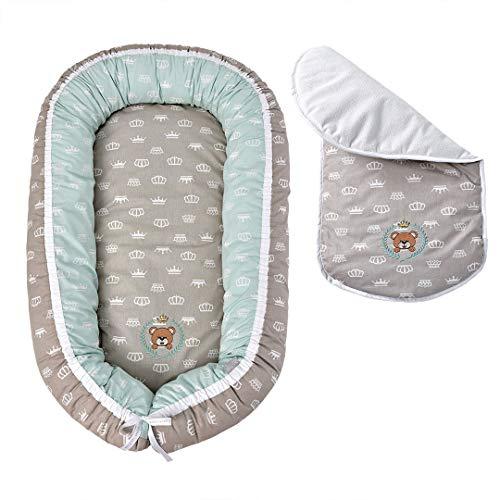 Babynestchen Kokon 2-seitig-Babynest Babykokon Kuschel Nest Minky Design