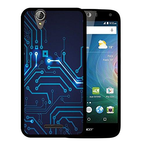 WoowCase Acer Liquid Z630 Hülle, Handyhülle Silikon für [ Acer Liquid Z630 ] Rundgang Handytasche Handy Cover Case Schutzhülle Flexible TPU - Schwarz