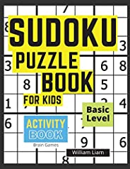 Sudoku Puzzle Basic Level For Kids - Brain Games For Kids Ages 8-12 Years (Activity Books)