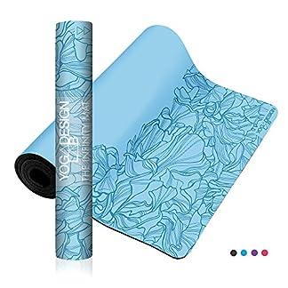Yoga Design Lab   Esterilla Infinity   Textura y diseño Antideslizante para Alinear y apoyar su práctica.   Ecológica   5mm   Acolchada   Incluye Cinta!