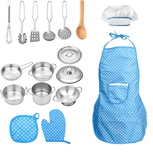 FUQUN 17 Pcs Pretend Play Kitche...