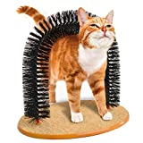 JML Purrfect Arch: Cat Self-Grooming & Massaging Toy Removes Loose Fur
