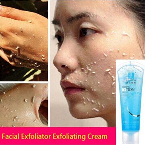 wowobjects Gentle Body Peeling Gel Beauty Face Scrub Exfoliating Gel Dead Skin Remover Whitening Moist Deep Cleasing Skin Care: Blueberry