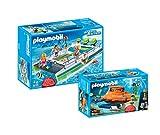 PLAYMOBIL® 2er Set: 9233 Glasbodenboot mit Unterwassermotor + 9234 U-Boot mit Unterwassermotor