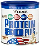 Weider, 80 Plus Protein, Brownie-Double Choc, 1er Pack (1x 500g)
