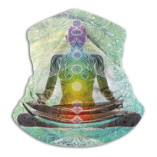 zhulaowufenbaoyouxi Yoga Mandala Zen Meditación Hippie Chakra Calentadores de Cuello de Invierno Bufanda mágica Sports Gaiter Headwear