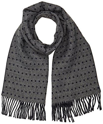 ben-sherman-pin-dot-scarf-echarpe-homme-gris-grey-concrete-marl-taille-unique